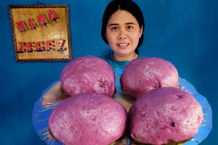 Cara membuat bakpao ubi ungu isi coklat